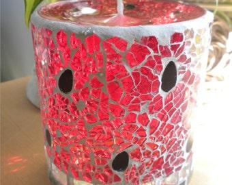 Watermelon Mosaic Gel Candle