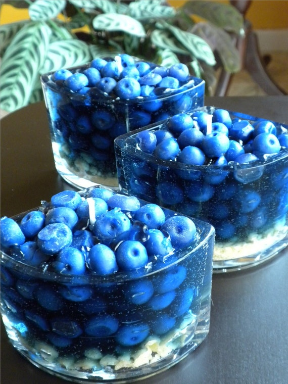 Slice of Blueberry Pie Candle