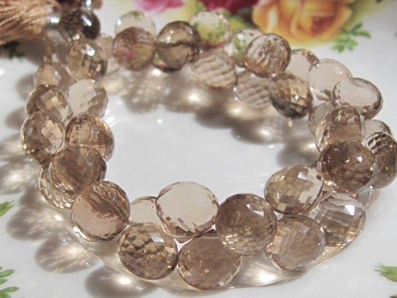 Stunning AAA Grade Champagne CITRINE  Faceted Onion Briolettes - 10 Beads