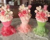 Reserve Balance  for RobynB2cute  10  Cupcake Centerpieces