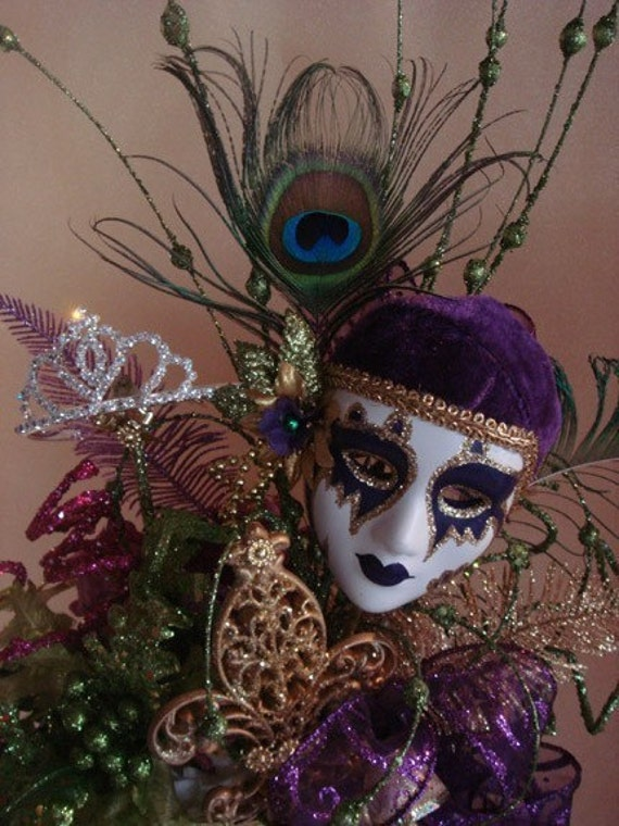 Faux Giant Cupcake Centerpiece Mardi Gras Carnival by LaDeeDah2
