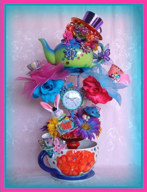 how to make a mad hatter hat centerpiece