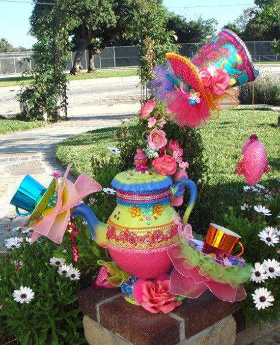 Items similar to giant 2 ft alice mad hatter tea party for Alice in wonderland tea party decoration ideas