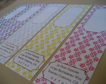 Brocade Envelope Wrap Labels - Set of 25