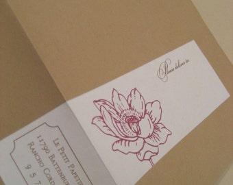 Bloom Envelope Wrap Labels - Set of 25