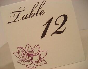 Bloom Table Numbers - Set of 15