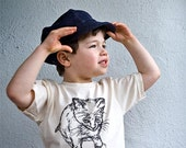 Kid Newsboy Cap in Organic Blue Denim, Size M (5yo 6yo 7yo 8yo), Organic cotton, Sustainable Hemp,  READY to ship, gift under 50