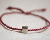 Thin Single Round Braid Silk Bracelet