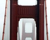 Golden View, maroon, fog, mist, gray, grey, bridge, water, span, path, golden gate, brown, robins nest blue