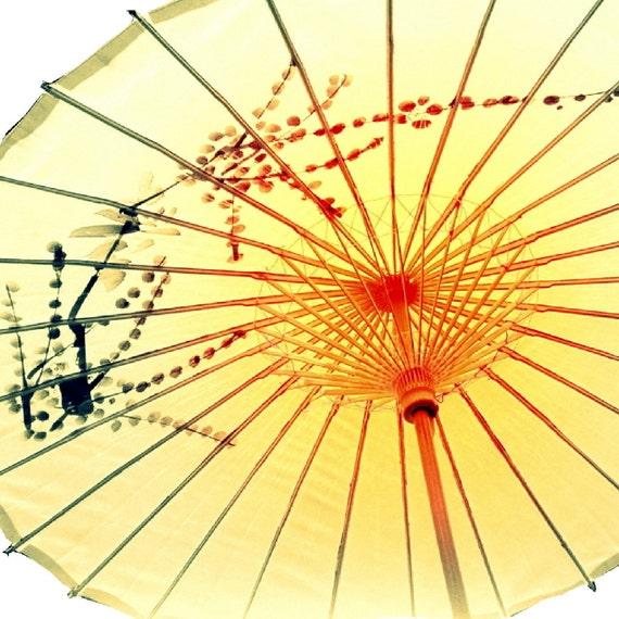 Mellow Yellow, umbrella, parasol, asian, shabby, exotic, chinese, vintage, sunshine, orange, tangerine, lemon