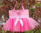 Embroidered Dance Bag, Naptime 21,  Pink Tote Bag, Tutu dance bags, tutu ballet bag, Princess tote bag, Tutu Tote Bag - TB112 - BP