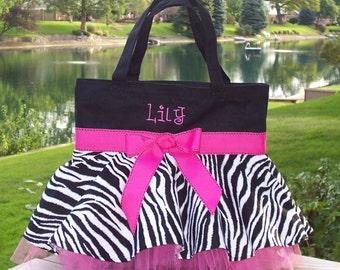 Tutu dance bag, Embroidered Tote Bag, tutu ballet bag, personalized tote bag, tutu bag, Naptime 21, dance bag, MINI Tutu Tote Bag MSTB57 - D