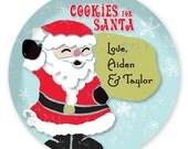 Personalized Santa Cookies Melamine Plate