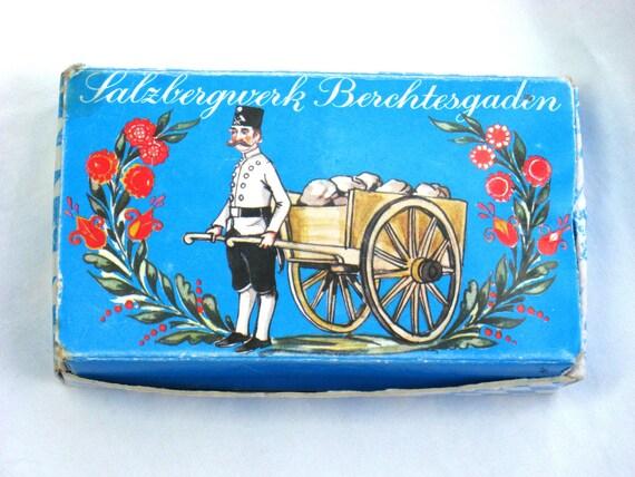 Vintage Souvenir Salt From Salzbergwerk Berchtesgaden Sample Box
