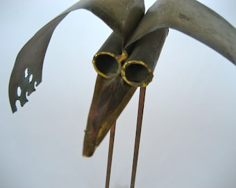 Mid Century Modern Metal Sculptured Bird