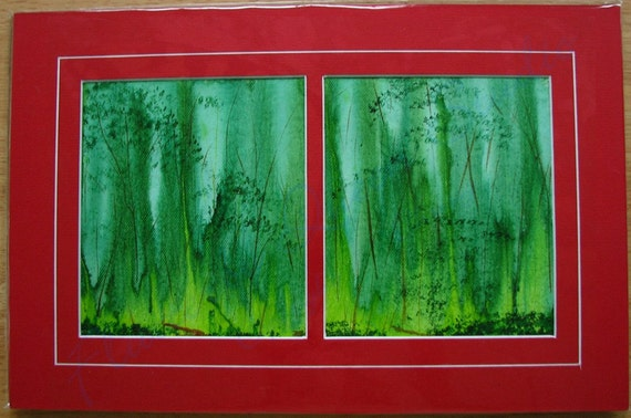 FireFly Forest ... acrylic painting ... abstract landscape ... original