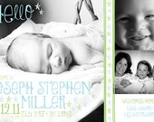A Touch of Whimsy Stars birth announcement (BOY or GIRL) Print Your Own