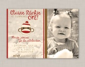 Sock Monkey birthday invitation (3) -- Print Your Own