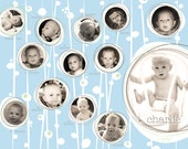 PRINT YOUR OWN Baby's First Year photo collage (boy)