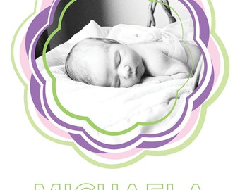Cotton Candy birth announcement (GIRL) 1