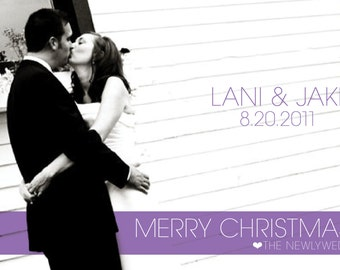 Holiday Card from the Newlyweds
