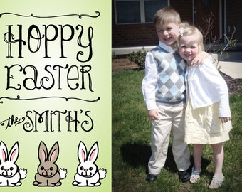 Easter Bunny Card -- Print Your Own