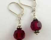 Red Roses - stunning Swarovski crystal earrings