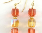 Starburst - stunning gold and Swarovski crystal earrings