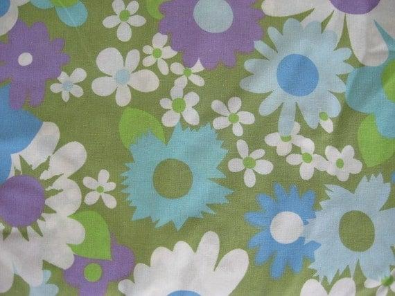 Vintage Fabulous Blue Flower Queen Sheet Set