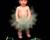 Aqua Baby Tutu with Hair Flower.  Comes with a FREE Hair Flower
