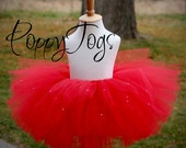 Glimmering Red Tutu PERFECT for Christmas with glitter and rhinestones
