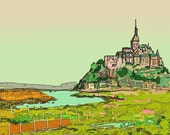 A7 SINGLE- Mont St. Michel, Gothic fortress