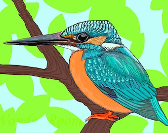A7 SINGLE- Perching Kingfisher