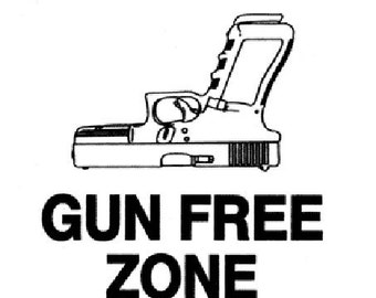Gun Free Zone Bike sticker