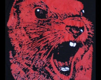 ANGRY RED SQUIRREL t-shirt endangered species tee