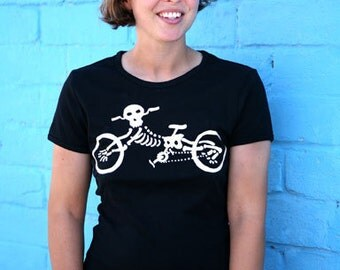 Skeleton Bike T Shirt