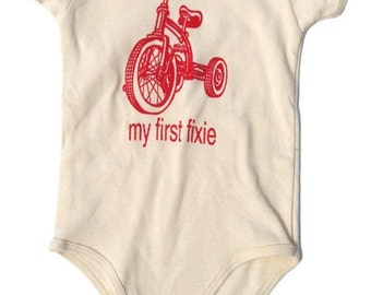 my first fixie baby tricycle onesie