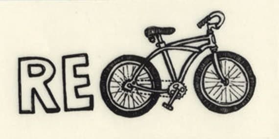 Re Bicycle Recycle Bike sticker