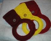 Crocheted Adjustable  Dishtowel or Handtowel Holder