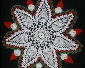 CHRISTMAS CROCHET SANTA CLAUS and PINEAPPLE  DOILY