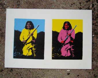 Geronimo Diptych - Original Screenprint 15x22