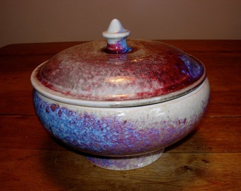 Medium Size Colorful Porcelain Casserole
