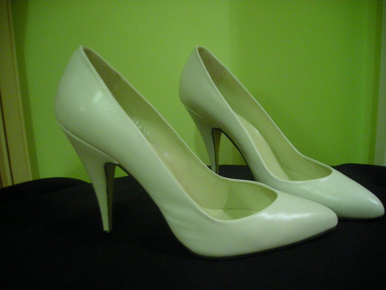 Womens vintage shoes pepe jimenez size 10 white leather nos - Pepe jimenez ...