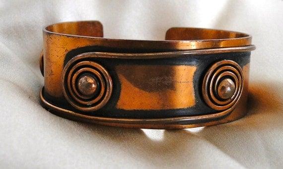 SALE Dio Hoffmando Copper Cuff Bracelet - Vintage