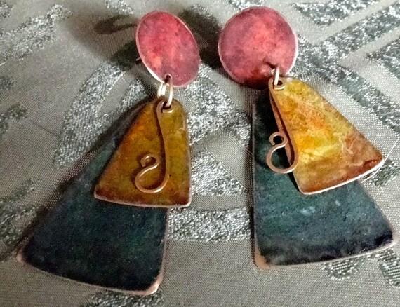 Vintage Earrings - Colorful