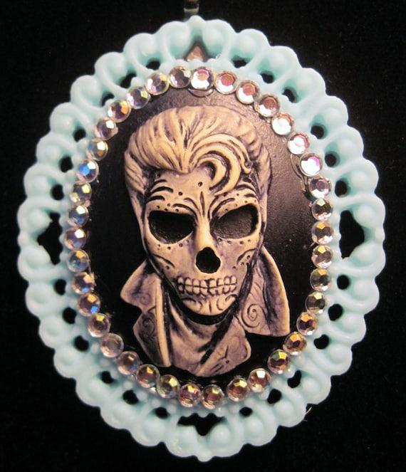 Sugar Skull Rocker Pendant