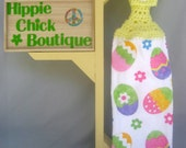 Easter Crochet Hanging Kitchen towel