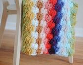 crochet rainbow throw blanket
