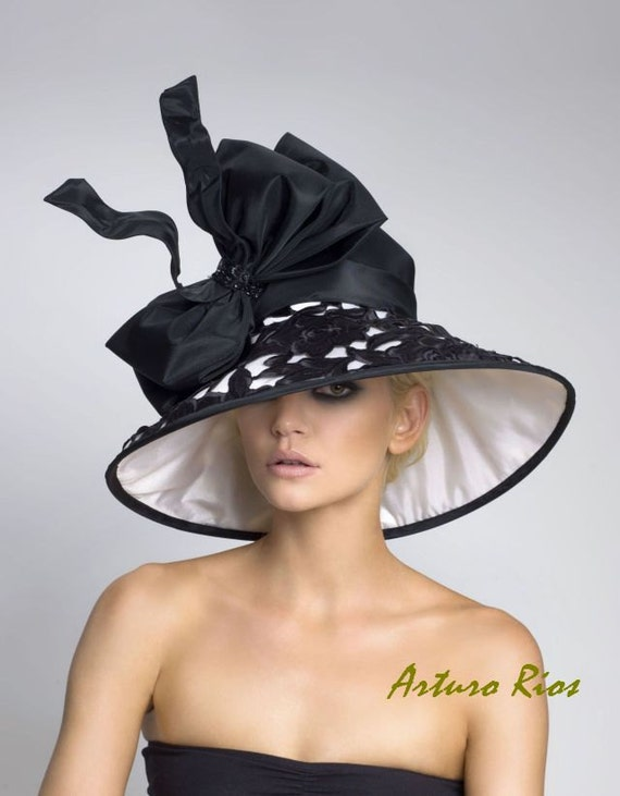 Couture Derby Hat, Lamshade Hat, Kentucky Derby