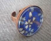 Royal Blue Washi Ring